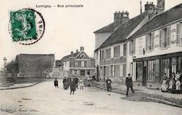 Lumigny  77   La Rue Principale Tres Tres Animée-Epiceri-Tabac Et Restaurant - Other Municipalities
