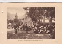 CAUTERETS. LES BAIGNEURS SUR L'ESPLANADE DES OEUFS. PHOTO SIZE 18x12cm CIRCA 1920s FRANCE - BLEUP - Lieux