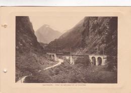 CAUTERETS. PONT DE MEYABAT ET LE PEGUERE. PHOTO SIZE 18x12cm CIRCA 1920s FRANCE - BLEUP - Lieux