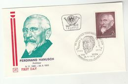 1973 AUSTRIA Special FDC Ferdinand HANUSCH Cover Stamps - FDC