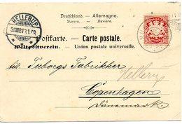 B001 - Carte Postale Cachet HELLERUP 1908 Allemagne - Sonstige