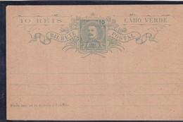 10 REIS CABO VERDE. ENTERO POSTAL ENTIER POSTAL STATIONERY 1900s - BLEUP - Cap Vert