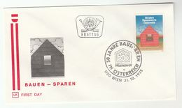 1975 AUSTRIA Special FDC BUILDING SOCIETY Banking Cover Stamps Finance - FDC