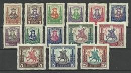 LITAUEN Lithuania 1930 Michel 293 - 306 * - Litauen