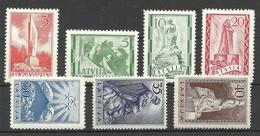 LETTLAND Latvia Lettonie 1937 Michel 246 - 252 Monuments * - Lettland