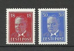 Estland Estonia 1939 Michel 146 - 147 * - Estland