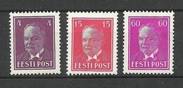ESTLAND Estonia 1937 Michel 124 - 126 * - Estonie