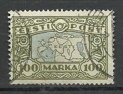 Estland Estonia 1923 Landkarte Map Michel 40 O - Geographie