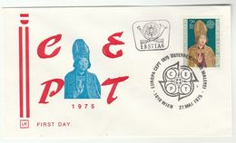 1975 AUSTRIA Special FDC EUROPA Religion Stamps Cover - FDC