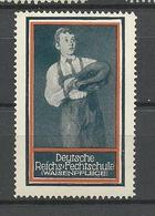 Deutschland Reichs Fechtschule Weisenhilfe * - Vignetten (Erinnophilie)