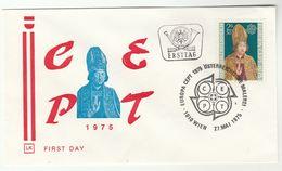 1975 AUSTRIA Special FDC EUROPA Religion  Stamps Cover - 1975