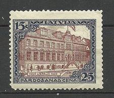 LETTLAND Latvia 1925 Libau Michel 108 A * - Letonia