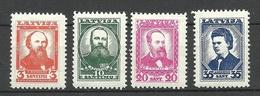 LETTLAND Latvia 1936 Michel 238 - 241 * - Lettland