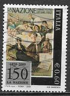 ITALIA  REPUBBLICA 2009 IL QUOTIDIANO LA NAZIONE SASS. 3111 USATO VF - 2001-10: Usati