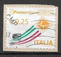 ITALIA  REPUBBLICA 2010-13 POSTA ITALIANA SASS. 3182 A USATO SU FRAMMENTO - 2001-10: Usati