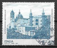 ITALIA  REPUBBLICA 2008 PATRIMONIO ARTISTICO URBINO SASS. 3068 USATO VF - 2001-10: Usati