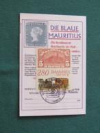 Denmark 1987 FDC Cover Copenhagen - HAFNIS Bella Center Train - Blue Mauritius Stamp - Dänemark
