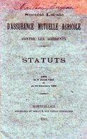 B001 - Statuts De La Société Locale D'assurance Mutuelle Agricole Contre Les Accidents 1924 Montpellier - Organisations