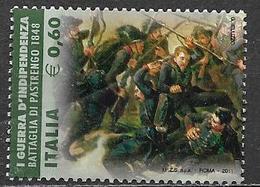 ITALIA  REPUBBLICA 2011 ANNIVERSARIO DELL'UNITA' D'ITALIA SASS. 3277 USATO VF - 2011-...: Usati