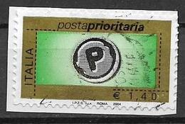 ITALIA  REPUBBLICA 2004 POSTA PRIORITARIA SASS. 2733 USATO VF - 2001-10: Usati