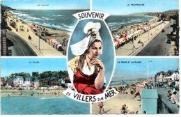14640 Souvenir De VILLERS SUR MER - Réal-photo - Normande En Coiffe - CPSM 9x14 - Villers Sur Mer