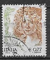 ITALIA  REPUBBLICA 2004 LA DONNA NELL'ARTE SASS. 2761 USATO VF - 2001-10: Usati