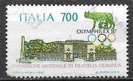 ITALIA  REPUBBLICA 1987 CAMPIONATI MONDIALI DI ATLETICA SASS. 1809 USATO VF - 2001-10: Usati