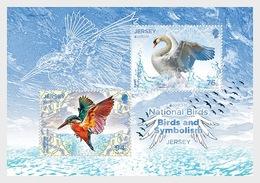 Jersey 2019 - Europa 2019 – National Birds: Birds & Symbolism Sheet Mnh - Jersey