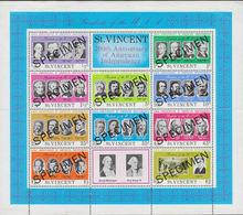 ST.VINCENT 1975 USA Bicent. SPECIMEN Sheetlet - George Washington