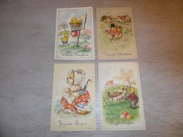 Beau Lot De 60 Cartes Postales De Fantaisie  Pâques   Mooi Lot 60 Postkaarten Van Fantasie  Pasen -  60 Scans - 5 - 99 Cartes