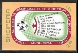1973Albania (SHQIPERIA)B49b1974 World Championship On Football Of Munchen - Coppa Del Mondo
