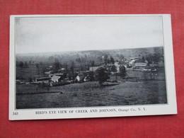 Birds Eye View Of Creek  & Johnson Orange Co. New York    Ref 3282 - NY - New York