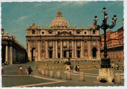 CITTA'  DEL  VATICANO   PIAZZA  S. PIETRO   E  BASILICA        (VIAGGIATA) - Vaticano