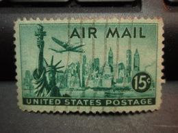 Timbre UNITED STATES POSTAGE 15 C AIR MAIL, Préoblitéré - Etats-Unis