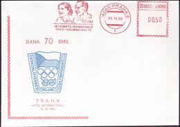 Czechoslovakia - 1992 H - Olympic Winners 1952 - Card - Ete 1952: Helsinki
