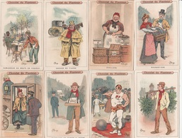 16 CHROMOS De Métiers Chocolat Du Plantier - Vieux Papiers