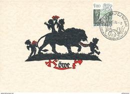 D32986 CARTE MAXIMUM CARD 1984 SWITZERLAND - SIGN OF THE ZODIAC - LÖWE LION CP ORIGINAL - Astrology