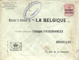 LETTER 1916  CENSOR   TAMINES - [OC38/54] Belg. Bez. In Duit.