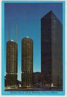 CHICAGO   MARINA  CITY  & IBM  BUILDING                (VIAGGIATA) - Chicago