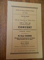 NAMUR:TRES RARE PROGRAMME DU CONCERT DE EUGENE YSAYE AVEC PHOTO AU THEATRE ROYAL LE LUNDI 27 AVRIL 1959 - Programmes