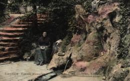 Tieghem - La Fontaine Miraculeuse, Um 1910 - Anzegem
