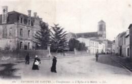 49 - Maine Et Loire -  CHAMPTOCEAUX  ( Environs De Nantes )  - L Eglise Et La Mairie - Champtoceaux
