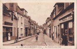 SAINT AMAND MONTROND  DANS LE CHER   RUE  ENTRE LES DEUX VILLES   BUREAU TABAC CPA  CIRCULEE - Saint-Amand-Montrond