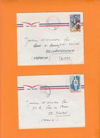 TCHAD Lot De 2 Lettres  De ABECHE 1970 D'un Capitaine Pour La Bretagne 22 Et 56 - Tchad (1960-...)