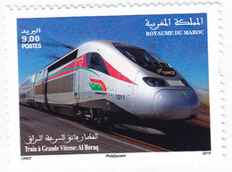 Morocco New Issue 2019, Speed Train 1v.complete Set MNH- SKRILL PAYMENT ONLY-Nice Topical Issue - Morocco (1956-...)
