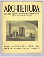 ARCHITETTURA / FASCISMO - MASSIMO PIACENTINI - 1935 - NUOVI EDIFICI A SABAUDIA - STAZIONI FERROVIARIE - Art, Design, Decoration
