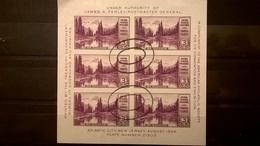 FRANCOBOLLI STAMPS U.S.A. UNITED STATES STATI UNITI 1934 USED NATIONAL PARKS BLOCCO MT. RAINTER US - Usati