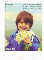 Iraq-KURDISTAN REGION New Issue 2018 Spring, Flowers 1v,compl.set High VALUE- Nice Topical - SKRILL PAYMENT ONLY - Iraq