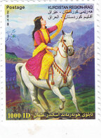 Iraq-KURDISTAN REGION New Issue 2018, Painting 1v.complete Set -Horse- SKRILL PAYMENT ONLY - Iraq