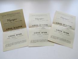 Schweiz 1929 3 Dokumente / Reiseprospekte La Chaux De Fonds Yoyages Cote D'Azur Und Cote D'Or - Reiseprospekte